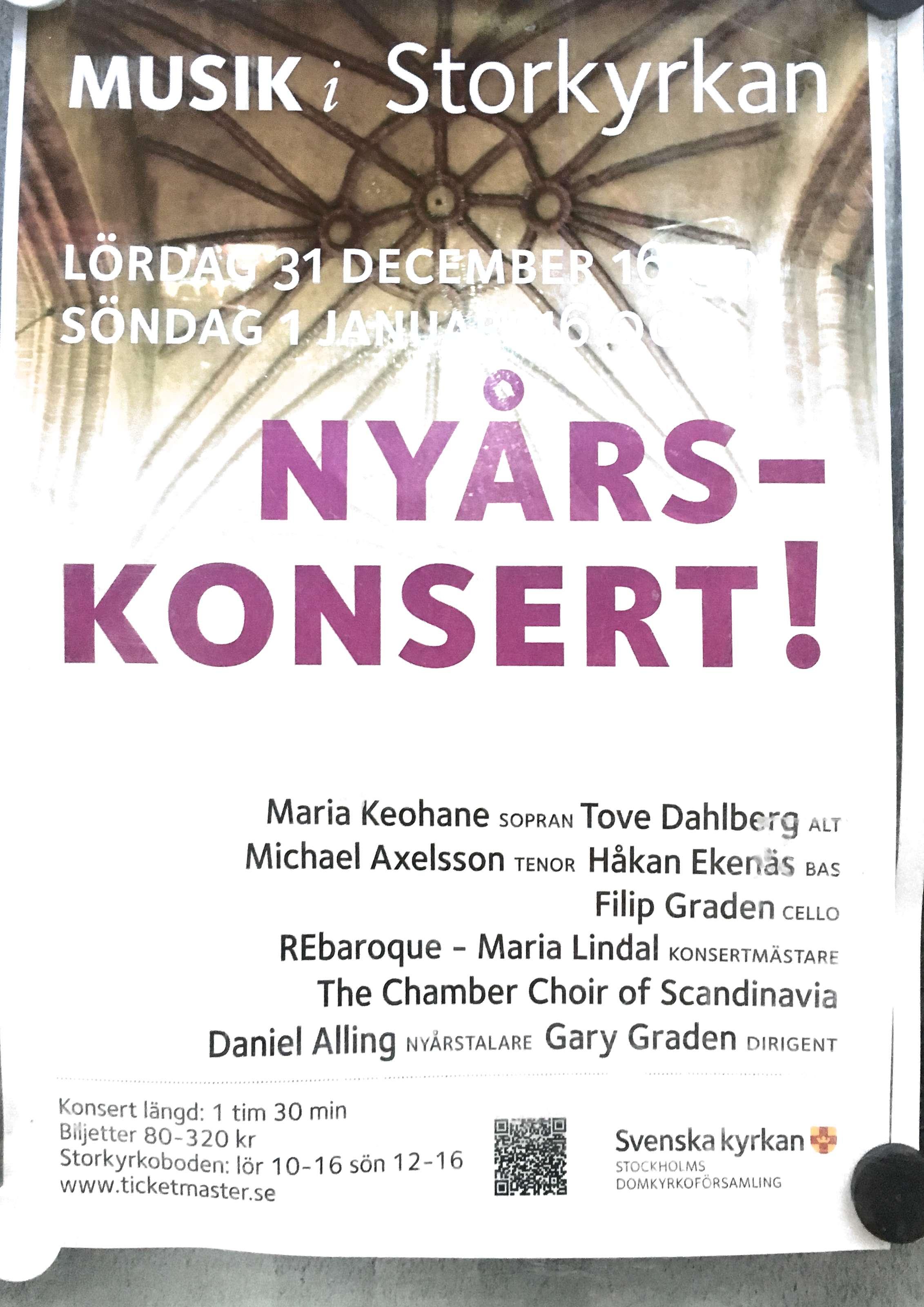 Nyårskonsert i Storkyrkan i Stockholm